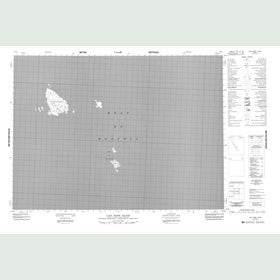 Canadian Topo Map - Lady Parry Island - Map 057E03