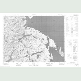 Canadian Topo Map - Elizabeth Harbour - Map 057F09