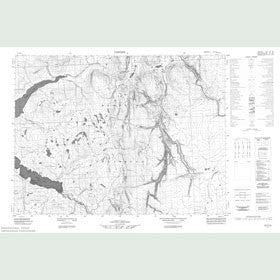 Canadian Topo Map - Map 057F12