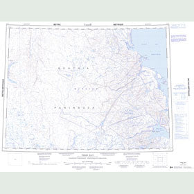 Canadian Topo Map - Thom Bay - Map 057F