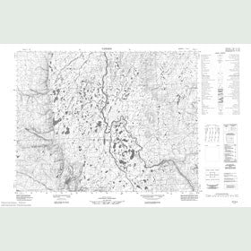 Canadian Topo Map - Map 057G04