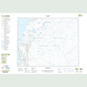 Canadian Topo Map - Mount Senecal - Map 057H10