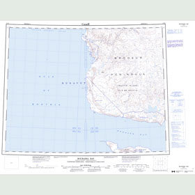 Canadian Topo Map - Bourassa Bay - Map 057H