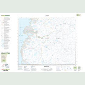 Canadian Topo Map - Brodeur River - Map 058A07