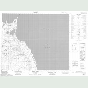 Canadian Topo Map - Idlout Point - Map 058B10