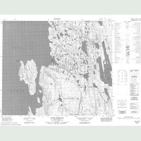 Canadian Topo Map - Howe Harbour - Map 058C04