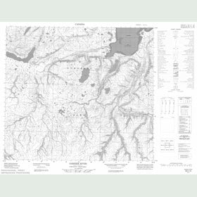 Canadian Topo Map - Garnier River - Map 058C16