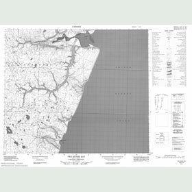 Canadian Topo Map - Two Rivers Bay - Map 058D04