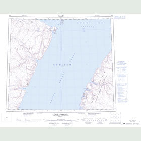 Canadian Topo Map - Cape Clarence - Map 058D