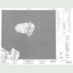 Canadian Topo Map - Prince Leopold Island - Map 058E03