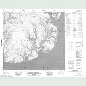 Canadian Topo Map - Cape William Herschel - Map 058E10