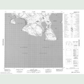 Canadian Topo Map - Gascoyne Inlet - Map 058E12