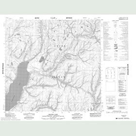 Canadian Topo Map - Drover Lake - Map 058E14