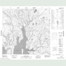 Canadian Topo Map - Ryder Inlet - Map 058E16