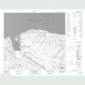 Canadian Topo Map - Cunningham Inlet - Map 058F02
