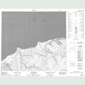 Canadian Topo Map - Cape Anne - Map 058F03