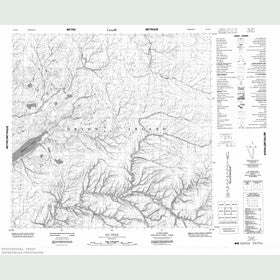 Canadian Topo Map - Map 058H04