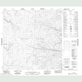 Canadian Topo Map - Map 058H11