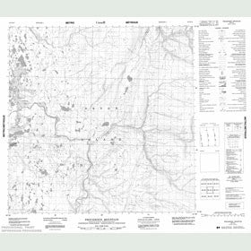 Canadian Topo Map - Providence Mountain - Map 058H12