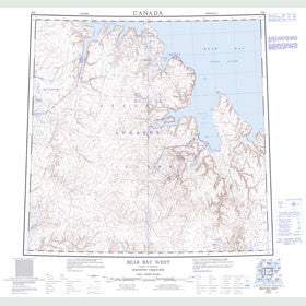 Canadian Topo Map - Bear Bay West - Map 058H
