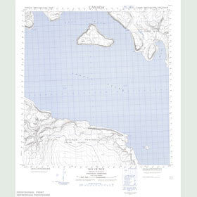 Canadian Topo Map - Bay of Woe - Map 059A07
