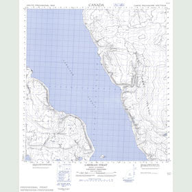 Canadian Topo Map - Cardigan Strait - Map 059A11