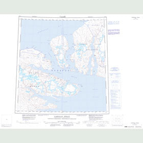 Canadian Topo Map - Cardigan Strait - Map 059A