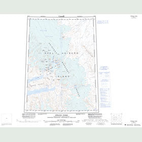 Canadian Topo Map - Strand Fiord - Map 059H