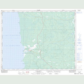 Canadian Topo Map - Black River - Map 062I16