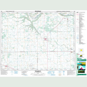 Canadian Topo Map - Rocanville - Map 062K05