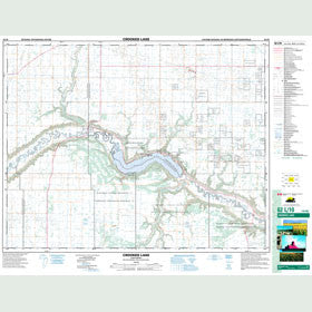 Canadian Topo Map - Crooked Lake - Map 062L10