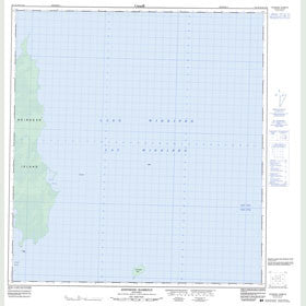 Canadian Topo Map - Johnsons Harbour - Map 063A05