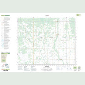 Canadian Topo Map - Endeavour - Map 063D02