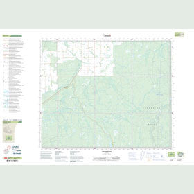 Canadian Topo Map - Pepaw River - Map 063D09