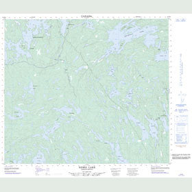 Canadian Topo Map - Nemei Lake - Map 063M08