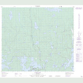 Canadian Topo Map - Llama Lake - Map 063N14