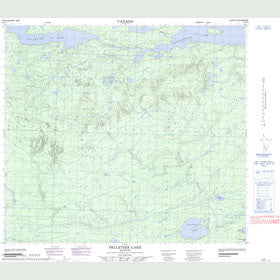 Canadian Topo Map - Pelletier Lake - Map 064A07