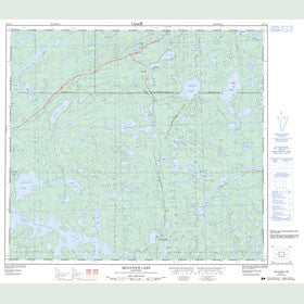 Canadian Topo Map - McGavock Lake - Map 064C11