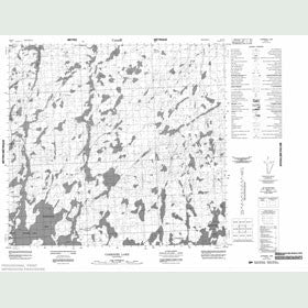 Canadian Topo Map - Carriere Lake - Map 064F05