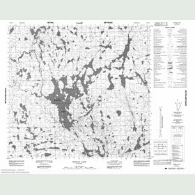 Canadian Topo Map - Jordan Lake - Map 064F09