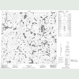 Canadian Topo Map - Majury Lake - Map 064H12