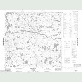 Canadian Topo Map - Steel River - Map 064I14