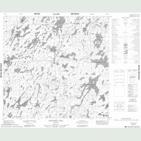 Canadian Topo Map - Rutledge Lake - Map 064K14
