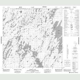 Canadian Topo Map - Warren Lake - Map 064M15