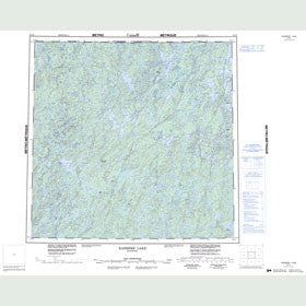 Canadian Topo Map - Kasmere Lake - Map 064N