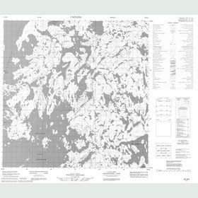 Canadian Topo Map - Map 065B06