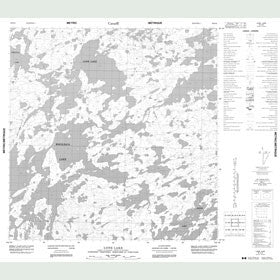Canadian Topo Map - Lone Lake - Map 065D12