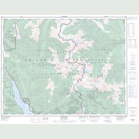 Canadian Topo Map - Roseberry - Map 082K03