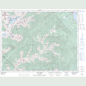 Canadian Topo Map - Toby Creek - Map 082K08