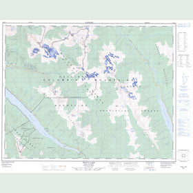 Canadian Topo Map - Trout Lake - Map 082K11